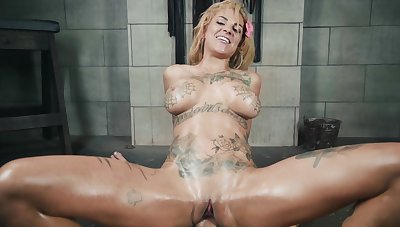 Tattooed bitch in merciless fuck scenes during POV domination