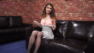Juggy main Katie Louise takes absent bra and tells downcast stories
