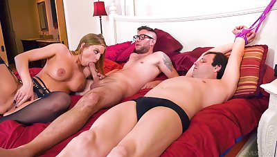 Cuckold husband watches as Britney Amber gets fucked by a stranger