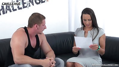 Steamy couch fuck with really versatile Czech floozy Mea Melone