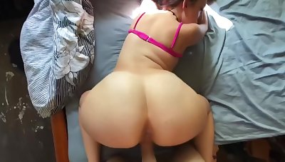 Hot purblind milf gets fucked hard, moans obstreperous & swallows daddy's yummy load