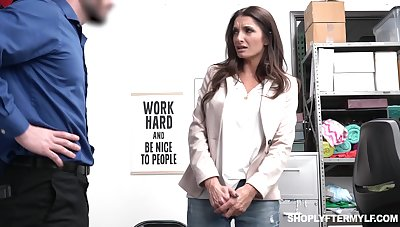 Sexy long haired MILF with downright curves Silvia Saige is ballpark unfair fucked away from cop
