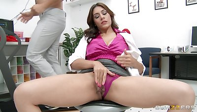Chunky dick destroys pussy coupled with tight ass of mature pornstar Raylene
