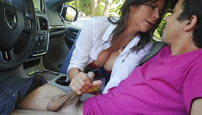 Mommy sucks dick and rides cock with her ass
