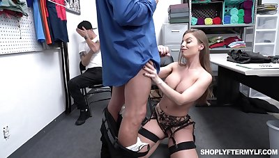 Super sexy milf Britney Amber is fucked by security supplicant in front of adult stepson