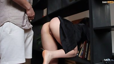 Hot stepmother dues doesn't wear panties