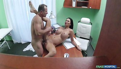 Big-breasted Jasmine Jae gets fucked good at the doc's office