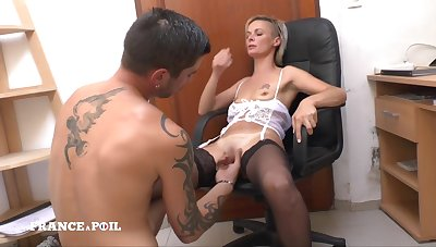 La France A Poil - The Consolidated Titted Teacher In Stocking