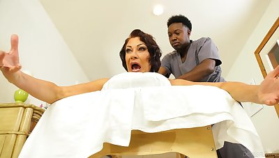 Wife screams with black hunk's huge dig up inside say no to arse